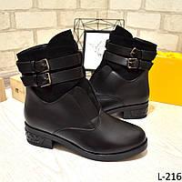 Ботинки женские зимние черные, с ремешками, удобные, теплые, зимняя обувь, фото 1