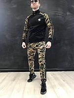 Спортивный костюм мужской камуфляжный Adidas, комплект спортивный олимпийка и штаны