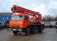 Аренда автовышки 28 метров КАМАЗ