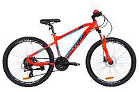 """Горный Велосипед 26"""" Optimabikes F-1 AM 14G HDD рама-16"""" Al оранжево-бирюзовый 2019"""