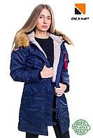 Аляска фирменная женская Olymp N-3B Slim Fit синий