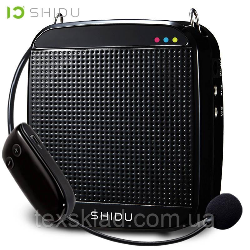 Усилитель голоса с беспроводным микрофоном SHIDU UHF 18W (USB/аккумулятор)