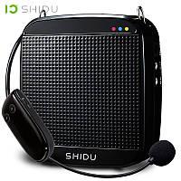 Усилитель голоса с беспроводным микрофоном SHIDU UHF 18W (USB/аккумулятор), фото 1