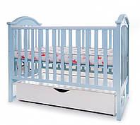 Кроватка Twins iLove маятник ящик опускной бок грызунок голубой Бесплатная доставка