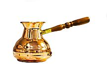 Турка медная со съемной ручкой 550мл Золотистая (ST-50087_psg)