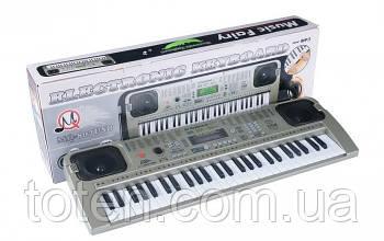 Детский пианино синтезатор MQ807 USB, 54 клавиш с микрофоном Работает от сети и батареек. 2 актив колонки