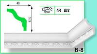 Плинтус потолочный Marbet В8 48х57,5мм 2м. (Медальон)