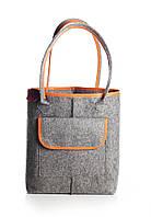 VM-Villomi Войлочная сумка-авоська со вставками рыжего цвета