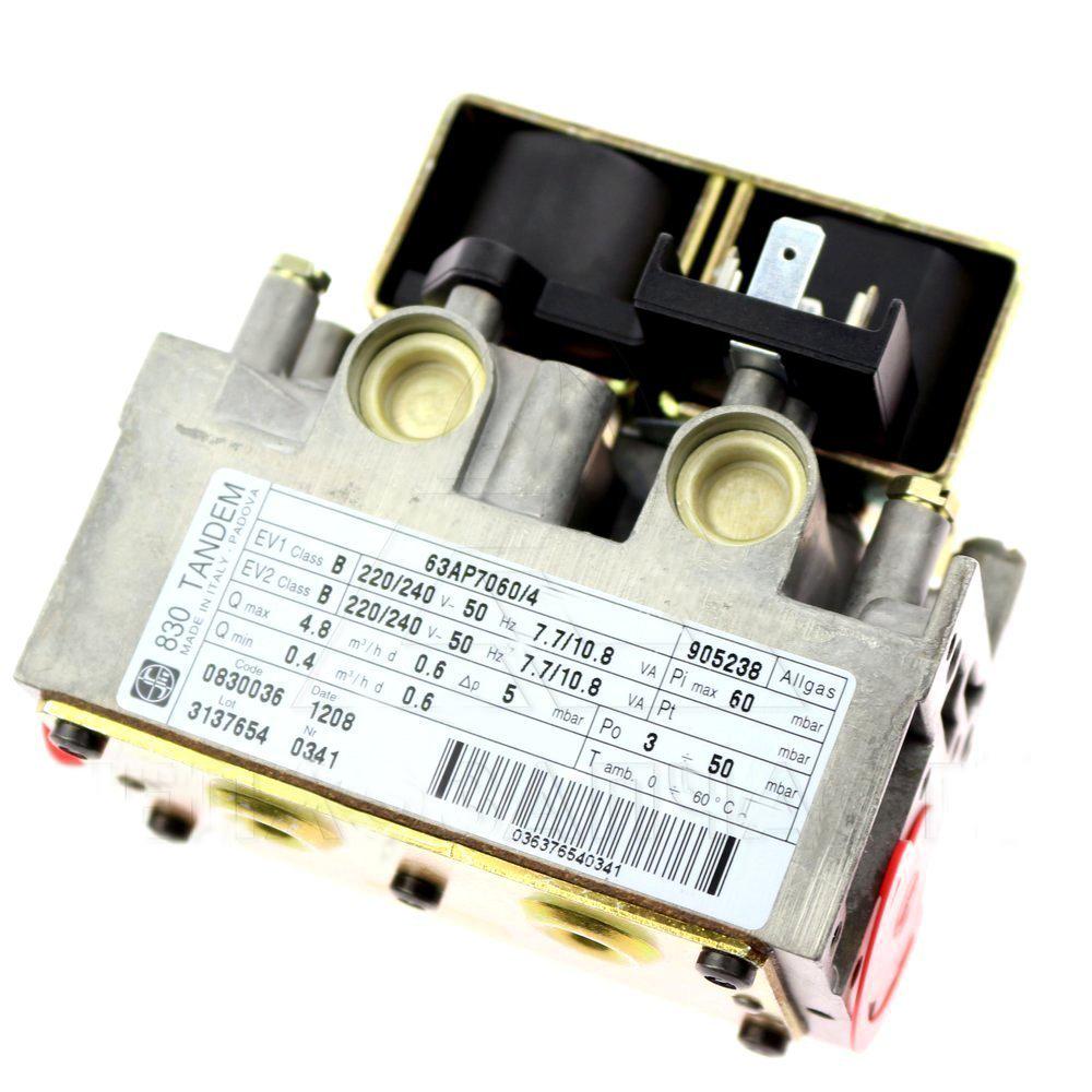 Газовый клапан 830 TANDEM ЭНЕРГОЗАВИСИМЫЙ для котлов до 40 кВт