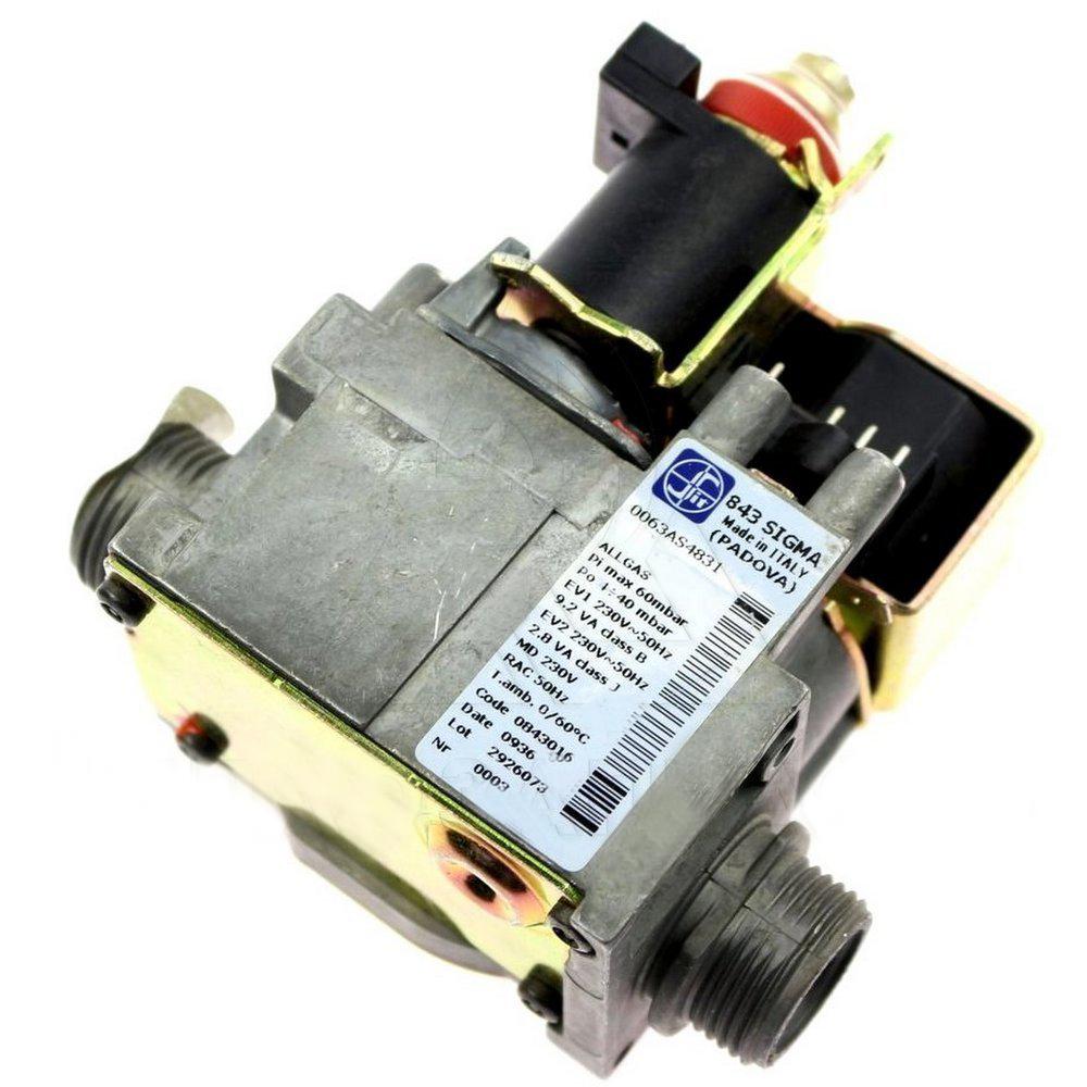Газовый клапан 843 SIGMA ЭНЕРГОЗАВИСИМЫЙ для котлов Baxi, Westen, Proterm