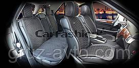 Накидки на сидения CarFashion Мoдель: CAPRI PLUS черный, черный, синий   (22242)