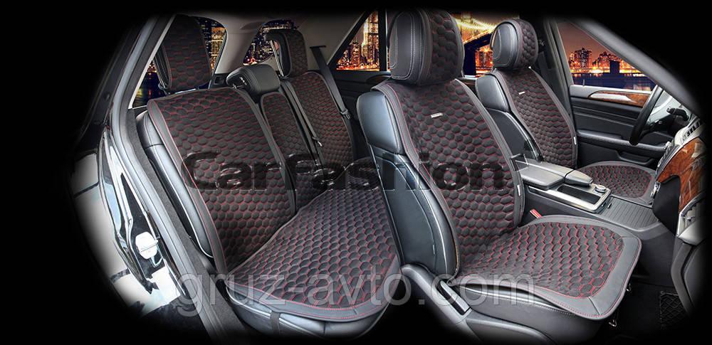 Накидки на сидіння CarFashion Модель: CAPRI PLUS чорний, чорний, сірий (22243)