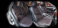 Накидки на сидіння CarFashion Модель: CAPRI PLUS чорний, чорний, сірий (22243), фото 1