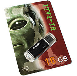 USB накопитель Hi-Rali 16GB Flash Drive HI-16GBVCBK Rocket Black