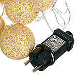 "Гирлянда ""Золотые шарики-фонарики"" 20шт. (001NL-20G), фото 4"