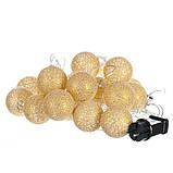 "Гирлянда ""Золотые шарики-фонарики"" 20шт. (001NL-20G), фото 3"