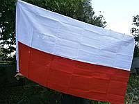 Флаг Польши с металлическими люверсами 90 см x 150 cм. MFH. Германия.