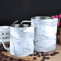 "Питчер для молока (молочник, джаг) Barista Space ""Marble"" 600 мл, фото 1"