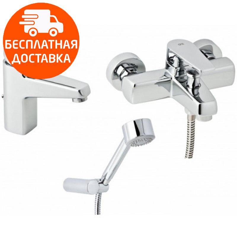 Набор смесителей для ванны без штанги 3 в 1 Genebre Klip 03KL-bath хром