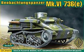 BeoPanzerkampwagen Mk.VI(e) Сборная модель немецкой танкетки. 1/72 ACE 72519