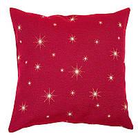 Наволочка декоративная двусторонняя с золотой люрексовой нитью и новогодним принтом Звездная ночь