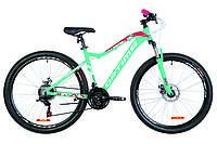 "Велосипед 27.5"" Optimabikes ALPINA AM 14G  DD  рама-17"" Al голубой с малиновым   2019"