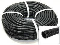 Гофра для проводки разрезная диаметр 5 мм (100м) пластик