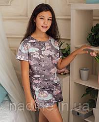 Подростковая пижама Eirena Nadine (786-64) 164/42  Серая