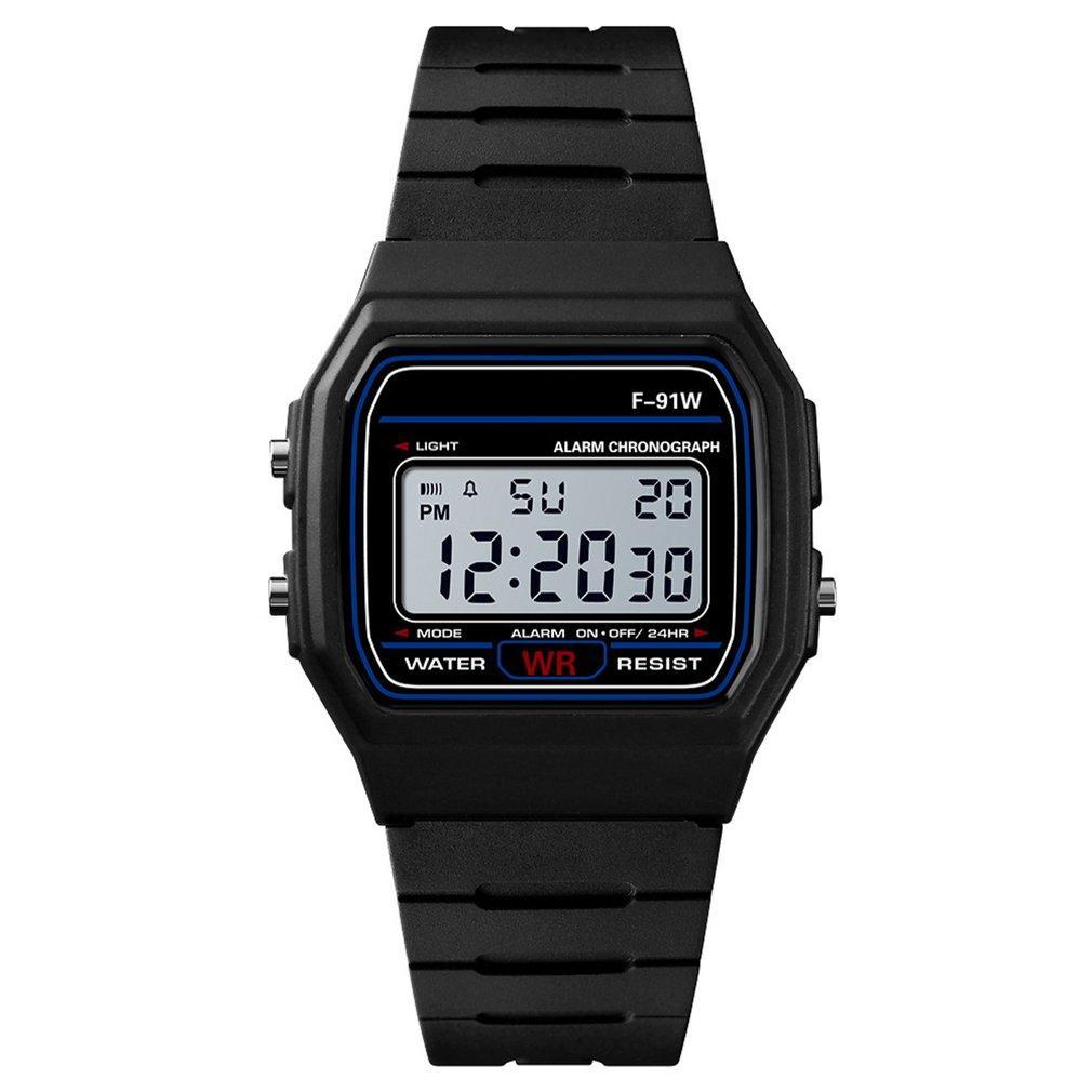 Спортивные электронные наручные часы с секундомером, будильником и подсветкой Ernstes Kind Black