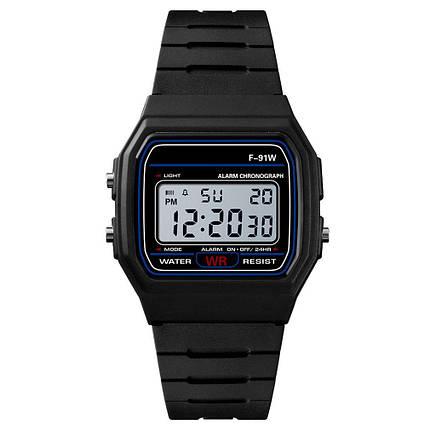 Спортивные электронные наручные часы с секундомером, будильником и подсветкой Ernstes Kind Black, фото 2