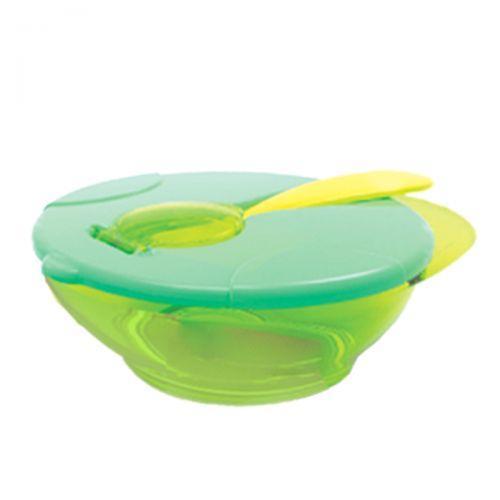 Детская тарелочка с ложкой (бирюзовая)  sco
