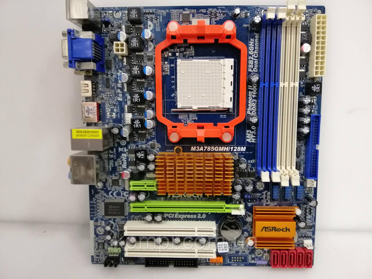 Материнская плата Asrock  M3A785GMH/128M  AM3 DDR3