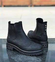 😜 Ботинки - женские трэндовые ботинки оксфорды черные
