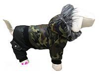 """Комбинезон зимний с мехом для собак """"Камуфляж"""", ( размер 4)"""