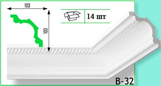 Плинтус потолочный Marbet В32 103х103мм  2м.