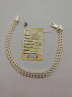 Срібний браслет з плетінням Венеція