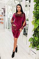 Нежное бархоное платье с пайеткой