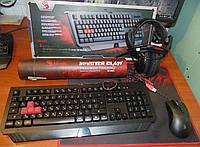 Набор игровая клавиатура A4TECH Bloody B120 + мышка A4TECH Bloody V3 и науники KOSS UR-20