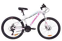 """Велосипед 26"""" Formula MYSTIQUE 1.0 AM 14G  DD  рама-18"""" Al бело-голубой с фиолетовым   2019"""