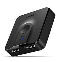 Двунаправленный переключатель HDMI Ugreen CM217 (Черный), фото 2