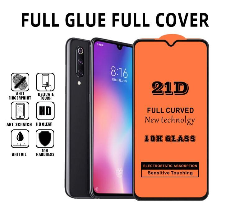 """Стекло 21D Xiaomi """"Ультра тонкое"""" - black (tempered glass)"""