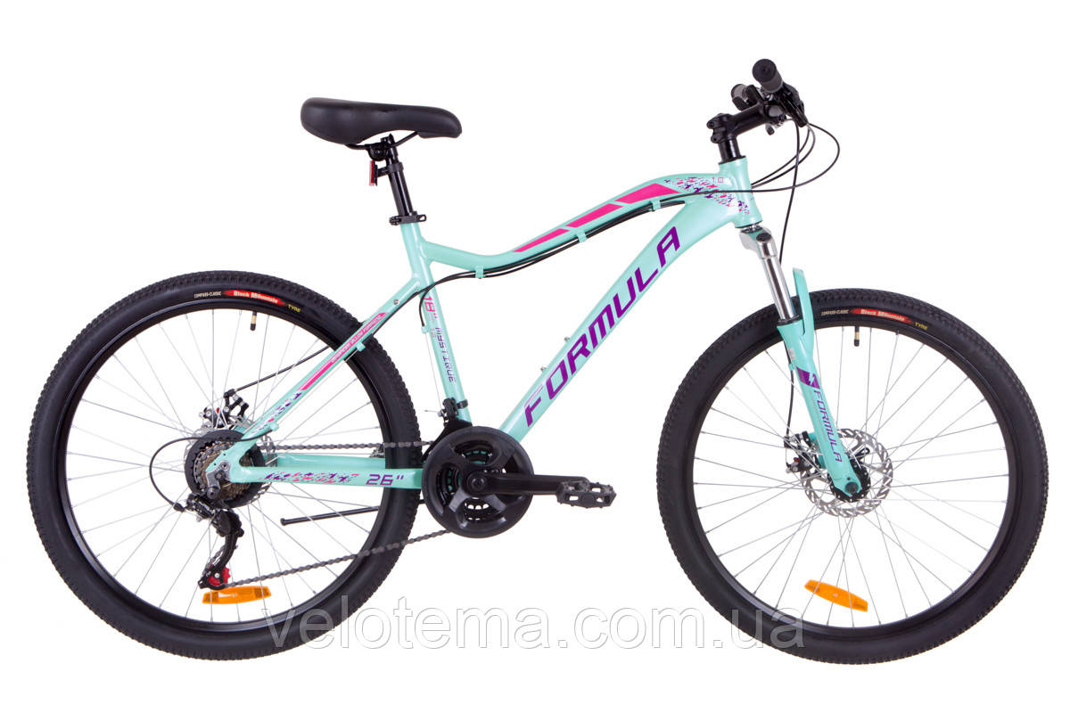 """Велосипед 26"""" Formula MYSTIQUE 1.0 AM 14G  DD  рама-18"""" Al бирюзовый   2019"""