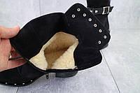 Зимние сапоги черные