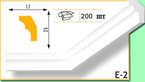 Плинтус потолочный Marbet Е2 17х25мм 2м.