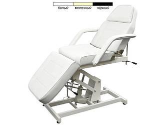 Кресло Кушетка косметологическая электрической регулировкой высоты на 3 секции для салона красоты 246