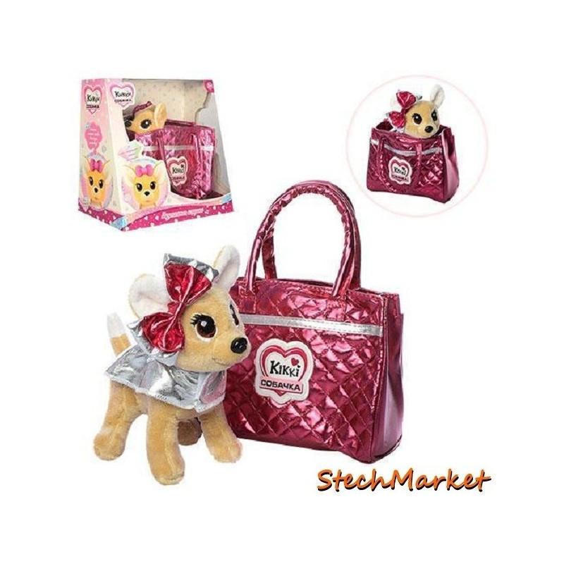 """Интерактивная игрушка """"Собачка Кикки"""" M 3642-N-RU 22 см в сумочке"""