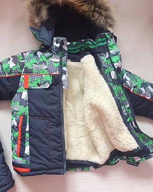 Детский зимний комплект комбинезон+ куртка на мальчика утепленный 4-5 лет, фото 2