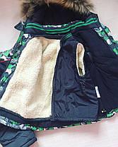 Детский зимний комплект комбинезон+ куртка на мальчика утепленный 4-5 лет, фото 3
