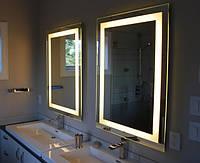 Зеркало 60*80 см со светодиодной подсветкой в алюминиевой раме, индивидуальный размер