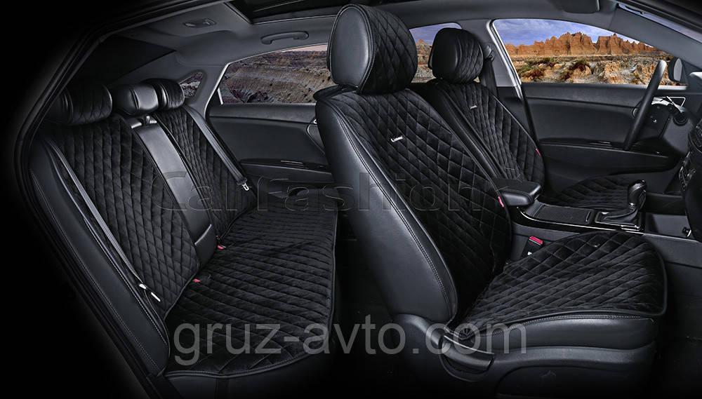 Накидки на сидіння CarFashion Модель: CALIFORNIA PLUS чорний, чорний, чорний (22414)